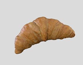 game-ready Croissant Bread 3D model Photoscan