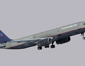 3D model Airbus A321-200 United Airlines