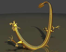 animated 3dmax2011 gold China Dragon East Dragon Gold