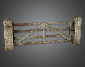 3D asset GFS - Outdoor Gate 06 - PBR Game Ready