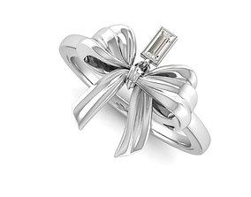 Bow Ring Ribbon 3D printable model