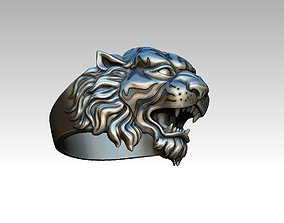 Angry Tiger ring 3d print model