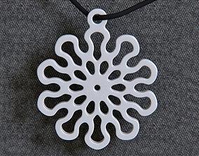 Lotus 10 Mandala Pendant 3D printable model