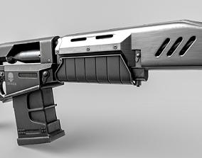 3D model Cyberpunk 2077 Militech Crusher Gun