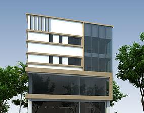 Commercial building 3D printable model