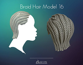 Braid Hairstyle 16 3D print model