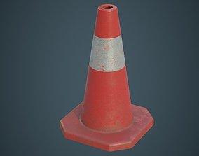 3D asset Traffic Cone 3B