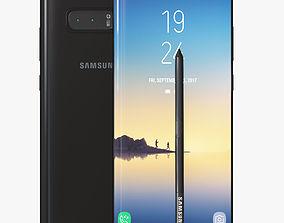 Samsung Galaxy Note 8 smartphone 3D