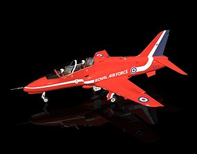 Hawk BAE T1 RAF Red Arrows display aircraft 3D