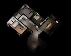 Simple Modern House Interior 3D model