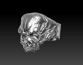 Old vampire scull ring 3D print model