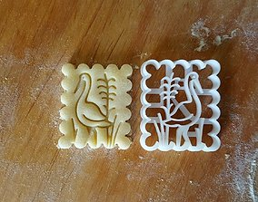 Stork bird cookie cutter 3D print model