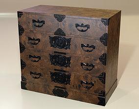 Japanese folk art chest of drawer 3D model