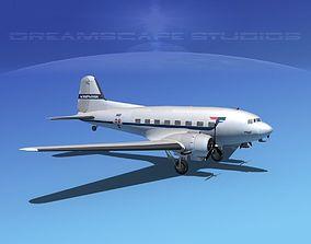 3D Douglas DC-3 SAS