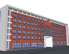 3D model Office-Teaching Building-Canteen 25