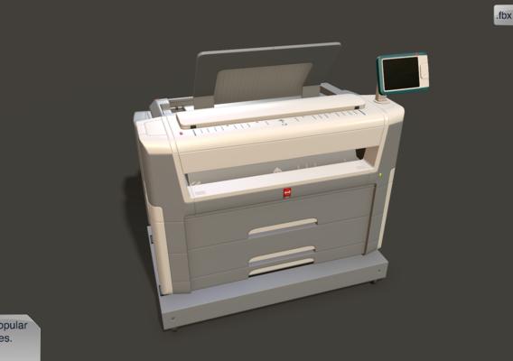 Industrial printer (midpoly / one block)
