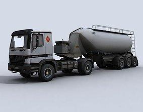 3D asset Tanker Truck