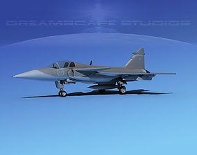 SAAB S39 Gripen Fighter V02 3D model