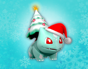 3D print model BULBASAUR CHRISTMAS TREE POKEMON games