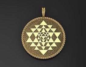 Sri Yantra Pendant necklace 3D printable model