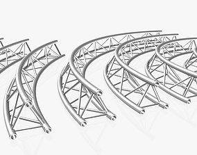 Circle Triangular Truss Modular 3D printable model 2