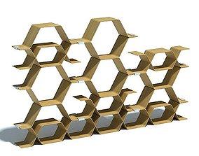 Honeycomb Shaped Shelves 3D