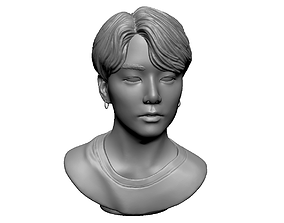 art BTS Jungkook 3D print model