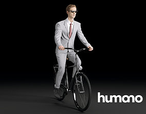 3D Humano Biking Woman 0717