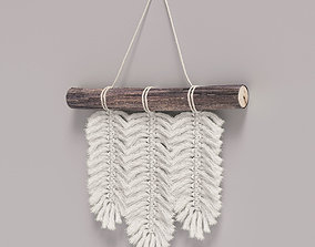 decoration 3D model Small Macrame Wall Hanging Feathers