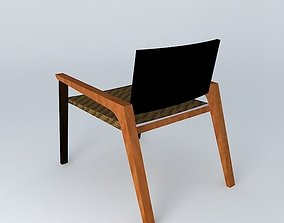 3D chair wood and fiber