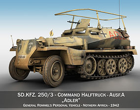 3D model SD KFZ 250 3 - Adler - Halftrack command variant