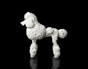 3D model Poodle Minecraft Voxel