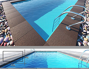 Swimming pool swiming 3D model