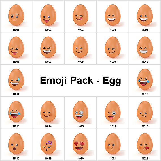 Emoji Pack - Egg