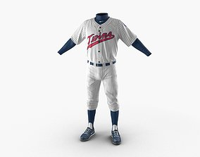 Baseball Player Outfit Twins 3 3D model