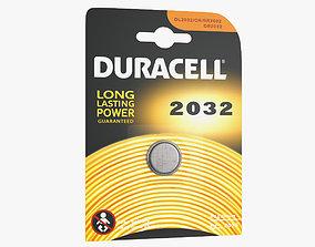 3d Duracell CR2032 Battery Pack 3D model