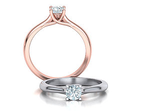 Classic Solitaire Engagement ring 4 prong design