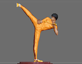 BRUCE LEE STATUE 2 ACTION MOVIE STAR 3D print model 4