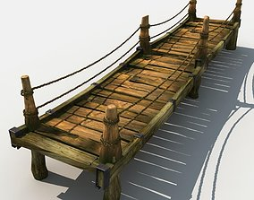 3D Old Wooden Bridge 04