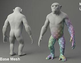 Chimp Base Mesh 3D