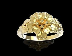 427 Gold Flower ring 3D print model