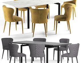 Globewest Amara Table and Eloise Chair 3D