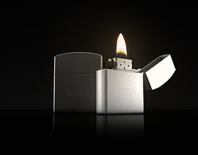 metal 3D model Zippo lighter