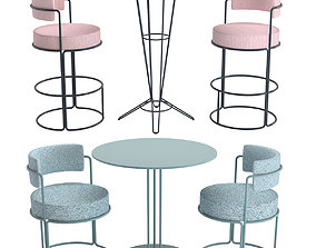 3D Paradiso Table Nostrum Table and Chair by Isimar