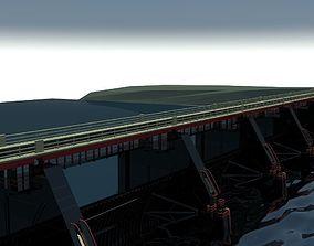 bridge dam 3D model freeway