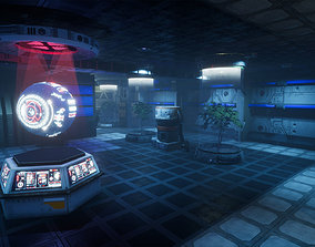 Pro-TEK Sci-Fi Laboratory Interior with Hologram 3D asset
