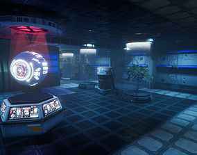 Pro-TEK Sci-Fi Laboratory Interior with Hologram 3D asset