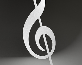 Treble clef 3D model