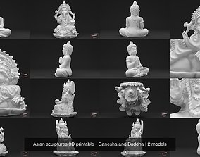 Asian sculptures 3D printable - Ganesha and Buddha