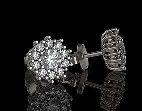 sterling Stud earrings 3D printable model